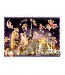 【Germany】キラキラ*グリッター*Notre Dameポストカード(Glitter-4)