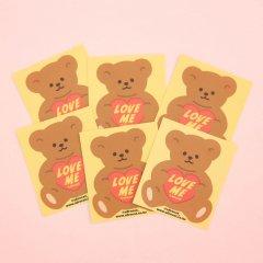 韓国シール-afrocat スマイルステッカー_8.Lov me bear