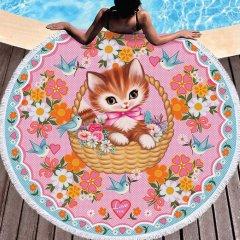 【Fiona Hewitt(フィオナ・ヒューイット)-Wu&Wu】タッセルタオル子猫TASSEL TOWEL KITTY