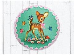 【Fiona Hewitt(フィオナ・ヒューイット)-Wu&Wu】グリーンバンビマットfloor mat vintage style bambi bath mat