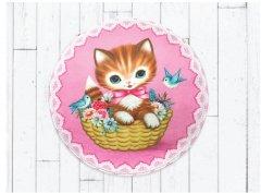 【Fiona Hewitt(フィオナ・ヒューイット)-Wu&Wu】ピンク子猫マットPINK CAT MAT