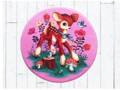 【Fiona Hewitt(フィオナ・ヒューイット)-Wu&Wu】ピンクバンビマットPINK DEER MAT