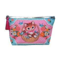 【Fiona Hewitt(フィオナ・ヒューイット)-Wu&Wu】タッセルメイクポーチ子猫TASSEL MAKE UP KITTY LOVE