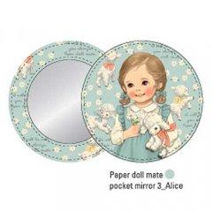 ペーパードールメイト/丸くて可愛いポケットミラー/ver.3(Alice)