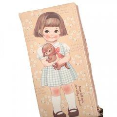 可愛いペンケース/女の子専用/レトロ/ガーリー//ペーパードールメイト-ペンケース009_blooming Sally