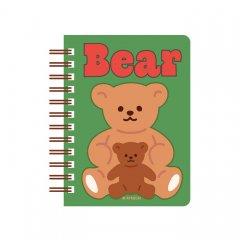 <img class='new_mark_img1' src='https://img.shop-pro.jp/img/new/icons11.gif' style='border:none;display:inline;margin:0px;padding:0px;width:auto;' />ペーパードールメイト//スプリングミニメモノート _Bear&Baby Bear 06