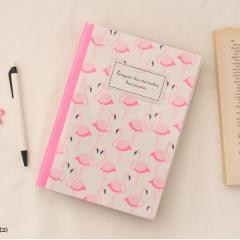 【Flamingo】可愛い輸入文具/ノート/女の子向け/リソグラフィノートA5/5mm方眼&7mmライン