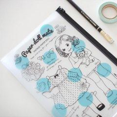 女の子専用ステーショナリー/ペーパードールメイト//クリアポーチL_Alice