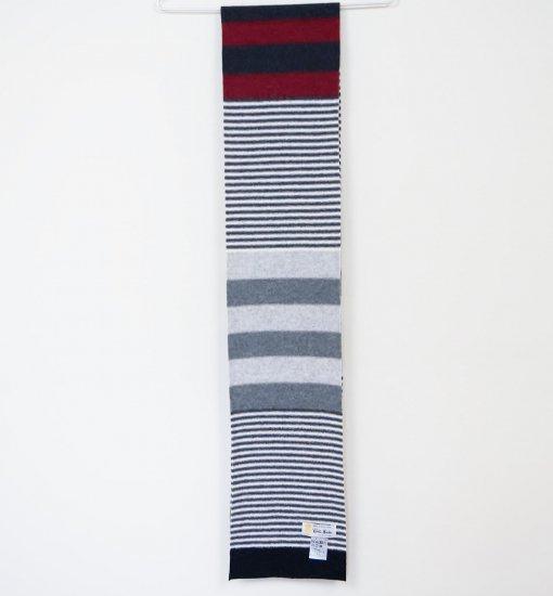 ROBERT MACKIE(ロバートマッキ―)  Harris scarf ウールマフラー RED