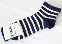 <img class='new_mark_img1' src='https://img.shop-pro.jp/img/new/icons14.gif' style='border:none;display:inline;margin:0px;padding:0px;width:auto;' />RoToTo(ロトト)  MARINE STRIPED SOCKS ボーダー靴下 NVY/WHT