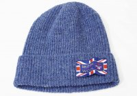 woolen knitting mills(ウーレンニッティッングミルズ)  HC CAP ワッチキャップ BLU