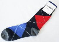 <img class='new_mark_img1' src='https://img.shop-pro.jp/img/new/icons14.gif' style='border:none;display:inline;margin:0px;padding:0px;width:auto;' />RoToTo(ロトト)  BIG ARGYLE SOCKS アーガイルソックス BLK