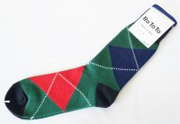 <img class='new_mark_img1' src='https://img.shop-pro.jp/img/new/icons14.gif' style='border:none;display:inline;margin:0px;padding:0px;width:auto;' />RoToTo(ロトト)  BIG ARGYLE SOCKS アーガイルソックス GRN