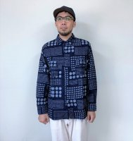 <img class='new_mark_img1' src='https://img.shop-pro.jp/img/new/icons14.gif' style='border:none;display:inline;margin:0px;padding:0px;width:auto;' />JAPAN BLUE JEANS(ジャパンブルージーンズ)  ランダムドットジャガードワークシャツ