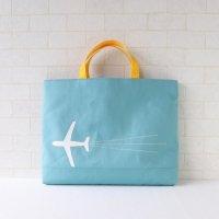 レッスンバッグ【M】【 L 】 | 飛行機|ターコイズ
