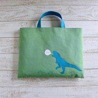 レッスンバッグ 【S】| 恐竜くん|グリーン