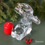ボダ Boda サンタクロース ガラス製 キャンドルホルダー キャンドル付き スウェーデン製