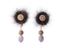 <img class='new_mark_img1' src='//img.shop-pro.jp/img/new/icons13.gif' style='border:none;display:inline;margin:0px;padding:0px;width:auto;' />Button Mink Fur Pierce/Earrings