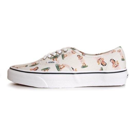 【VANS CLASSIC】AUTHENTIC DIGI HULA WHITE/TRUE WHITE 【シューズ・スニーカー・靴】