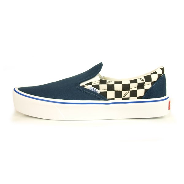 【VANS CLASSIC PLUS】SLIP-ON LITE (CEEING CHECKERS) DORESS BLUE【シューズ・スニーカー・靴】