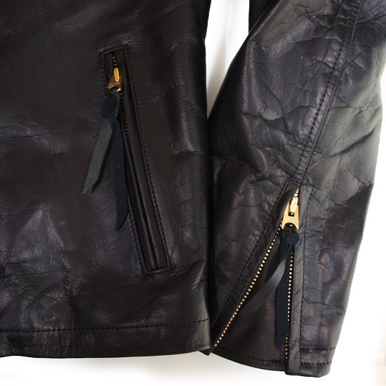 CALEE LEATHER RIDERS JACKET AW059