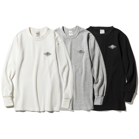 【CALEE】CREW NECK L/S THERMAL【サーマル】