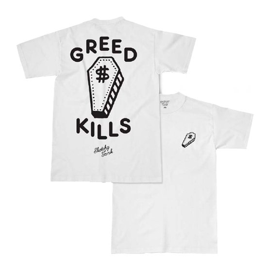【SKETCHY TANK】GREED TEE【Tシャツ】