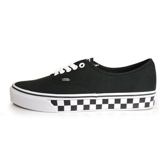 【VANS CLASSIC】AUTHENTIC CHECKER TAPE BLACK/WHITE【シューズ・スニーカー・靴】