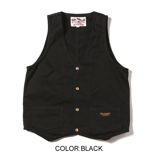 CALEE <img class='new_mark_img1' src='https://img.shop-pro.jp/img/new/icons35.gif' style='border:none;display:inline;margin:0px;padding:0px;width:auto;' />【SALE40%Off】WASHED WESTPOINT WORK VEST