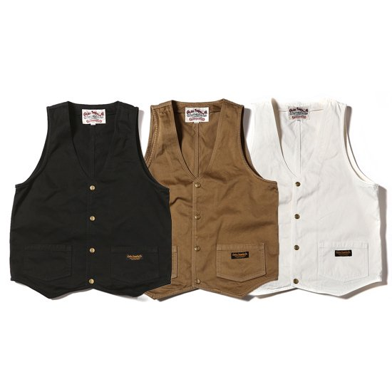 【CALEE】WASHED WESTPOINT WORK VEST【ワークベスト】