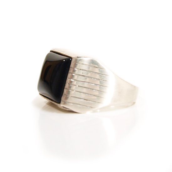 CLUCT SILVER ONXY RING