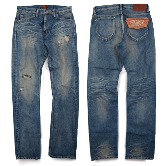 【CALEE】USED FIVE POCKET SLIM DENIM PANTS SS120【ユーズスリムデニム】