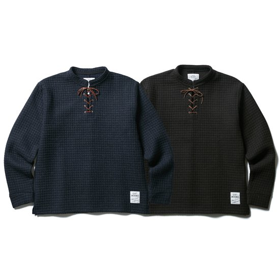 【CLUCT】LACE UP WOOL PULLOVER【ニットソー】