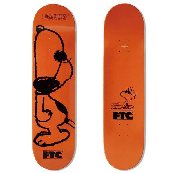 【FTC】FTC x PEANUTS JOE COOL DECK - Orange/8inch【デッキ】