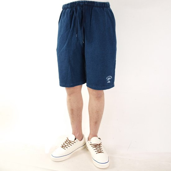 ONE'S FORTE ORIGINAL PALM OP I LOSE INDIGO SWEAT SHOT PANT