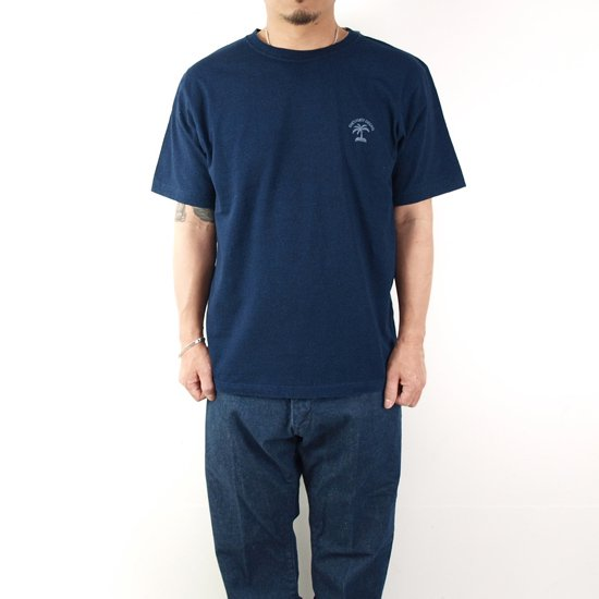 ONE'S FORTE ORIGINAL PALM OP I LOSE INDIGO T-SHIRT