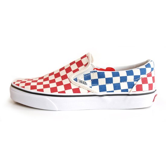 VANS CLASSIC SLIP-ON RED/BLUE