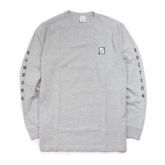 【NUMBERS EDITION・ナンバーズエディエション】VERTICAL L/S TEE【ロングスリーブTシャツ】