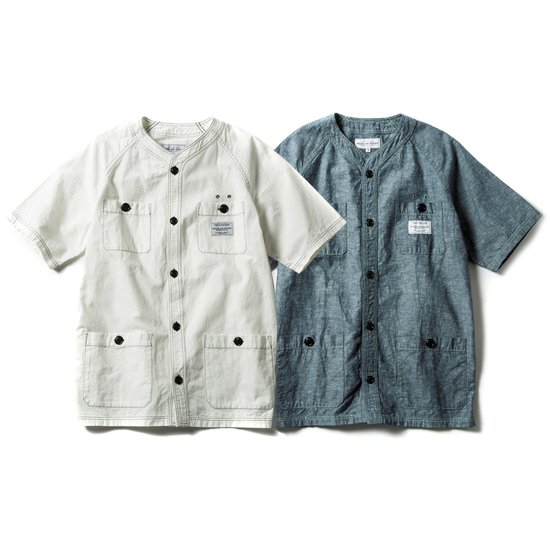 【ROUGH AND RUGGED】MINOR SHIRTS【ノーカラーシャツ】