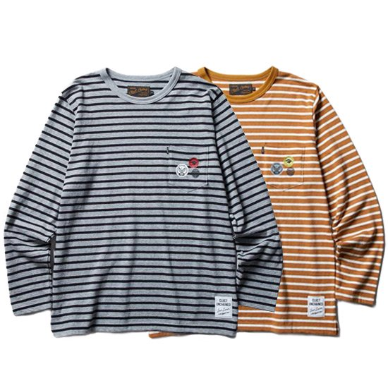 【CLUCT】L/S WOOL PKT CREW【ボーダーカットソー】