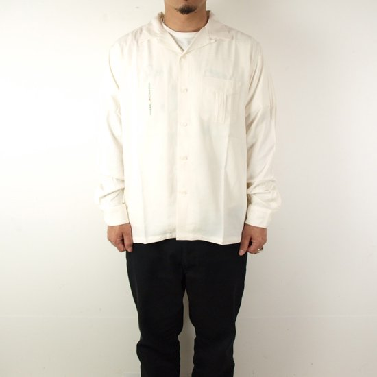RADIALL SPACE ECHO OPEN COLLARED SHIRT L/S