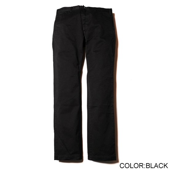 CALEE WASHED WEST POINT SLIM CHINO PANTS AW027