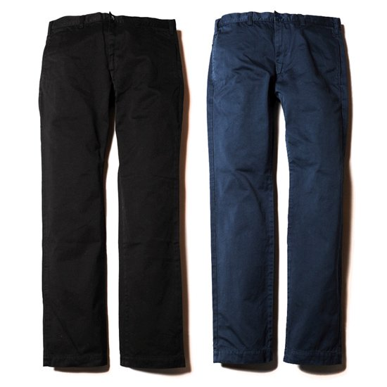【CALEE】WASHED WEST POINT SLIM CHINO PANTS AW027【スリムチノ】