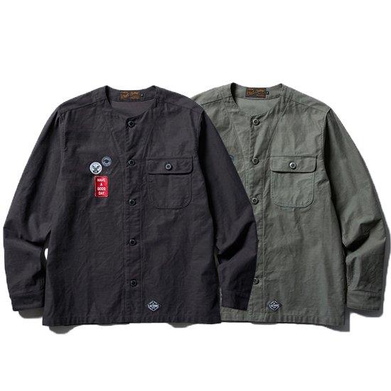 【CLUCT/クラクト】NO COLLAR SHIRTS 【ノーカラーシャツ】