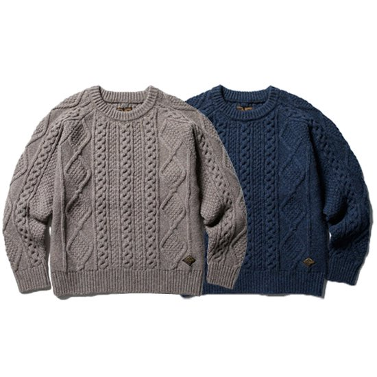 【CLUCT】FISHERMAN SWEATER【ケーブルニット】