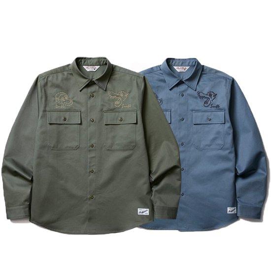 【CLUCT/クラクト】EMB L/S SHIRTS【ワークシャツ】