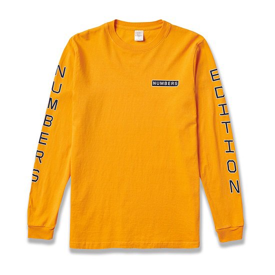 NUMBERS VERTICAL STACK L/S TEE