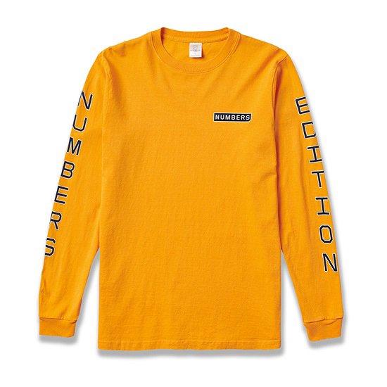 【NUMBERS・ナンバーズ】VERTICAL L/S TEE【ロングスリーブTシャツ】