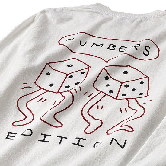 NUMBERS LOADED DICE L/S TEE