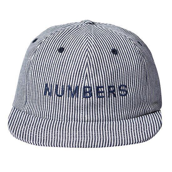 NUMBERS WORD MARK DENIM 6 PANEL CAP